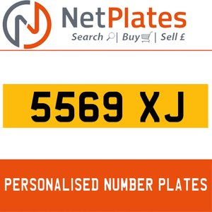 5569 XJ PERSONALISED PRIVATE CHERISHED DVLA NUMBER PLATE For Sale