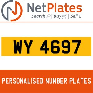 WY 4697 PERSONALISED PRIVATE CHERISHED DVLA NUMBER PLATE