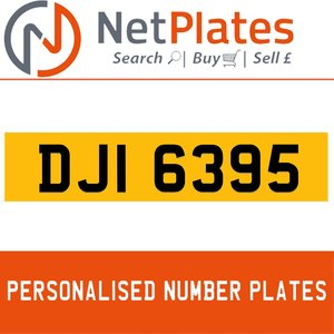 DJI 6395 PERSONALISED PRIVATE CHERISHED DVLA NUMBER PLATE For Sale