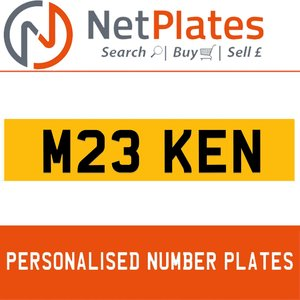 M23 KEN PERSONALISED PRIVATE CHERISHED DVLA NUMBER PLATE