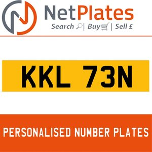 KKL 73N PERSONALISED PRIVATE CHERISHED DVLA NUMBER PLATE