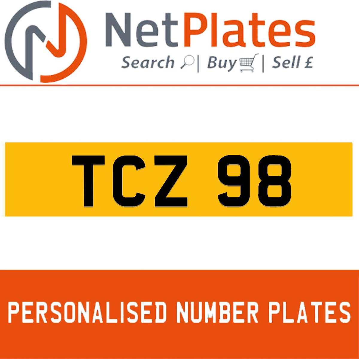 TCZ 98 PERSONALISED PRIVATE CHERISHED DVLA NUMBER PLATE For Sale (picture 1 of 5)