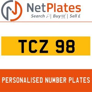 TCZ 98 PERSONALISED PRIVATE CHERISHED DVLA NUMBER PLATE