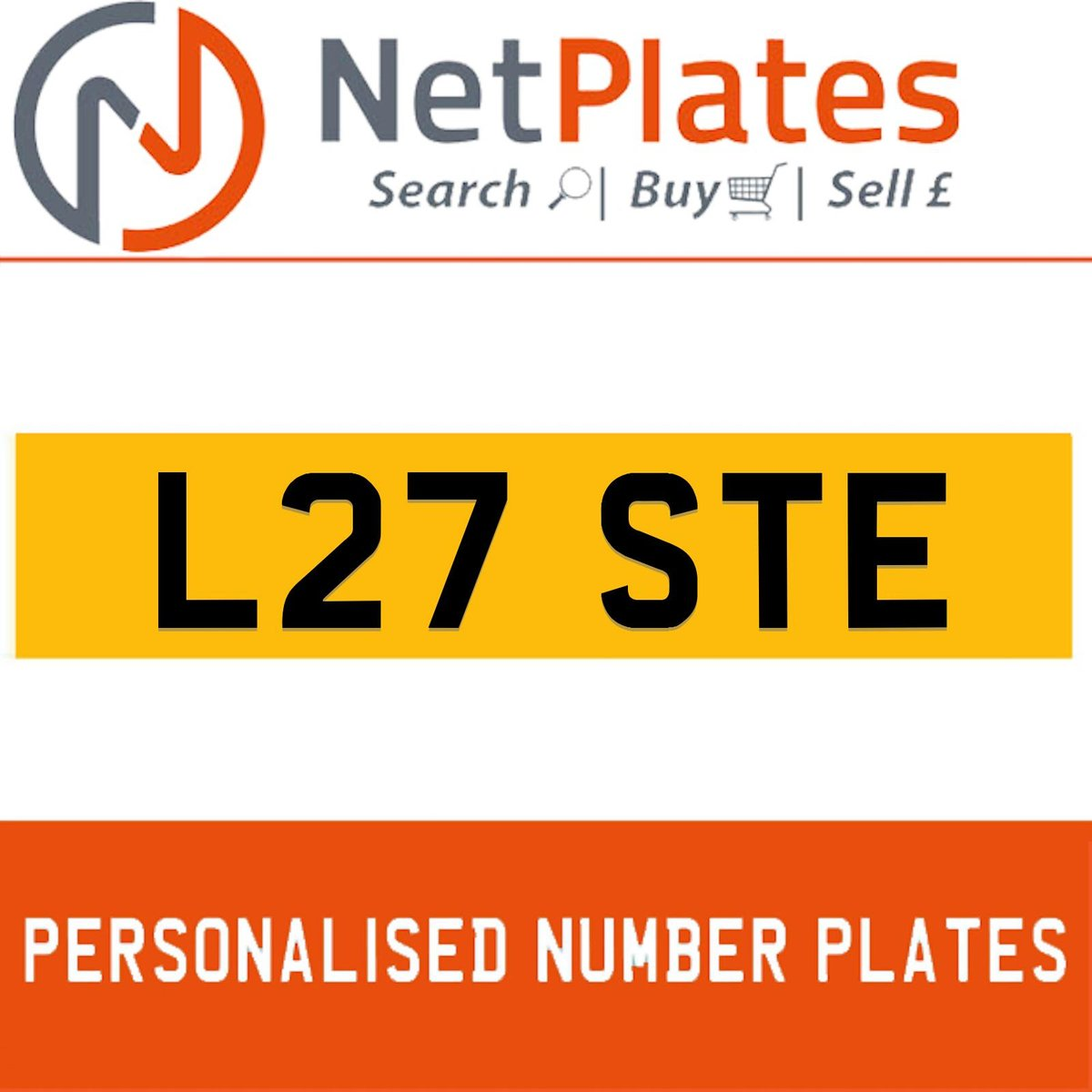 L27 STE PERSONALISED PRIVATE CHERISHED DVLA NUMBER PLATE For Sale (picture 1 of 5)