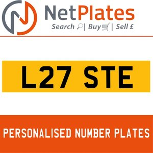 L27 STE PERSONALISED PRIVATE CHERISHED DVLA NUMBER PLATE