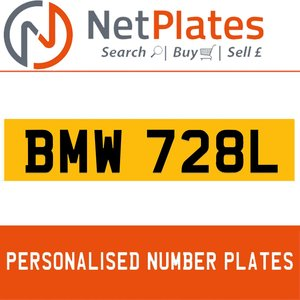 BMW 728L PERSONALISED PRIVATE CHERISHED DVLA NUMBER PLATE For Sale