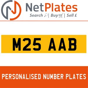 M25 AAB PERSONALISED PRIVATE CHERISHED DVLA NUMBER PLATE For Sale