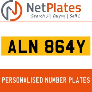 ALN 864Y PERSONALISED PRIVATE CHERISHED DVLA NUMBER PLATE For Sale