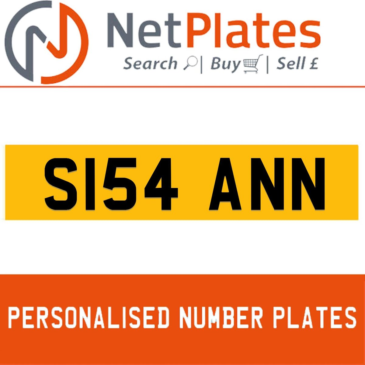 S154 ANN PERSONALISED PRIVATE CHERISHED DVLA NUMBER PLATE For Sale (picture 1 of 5)