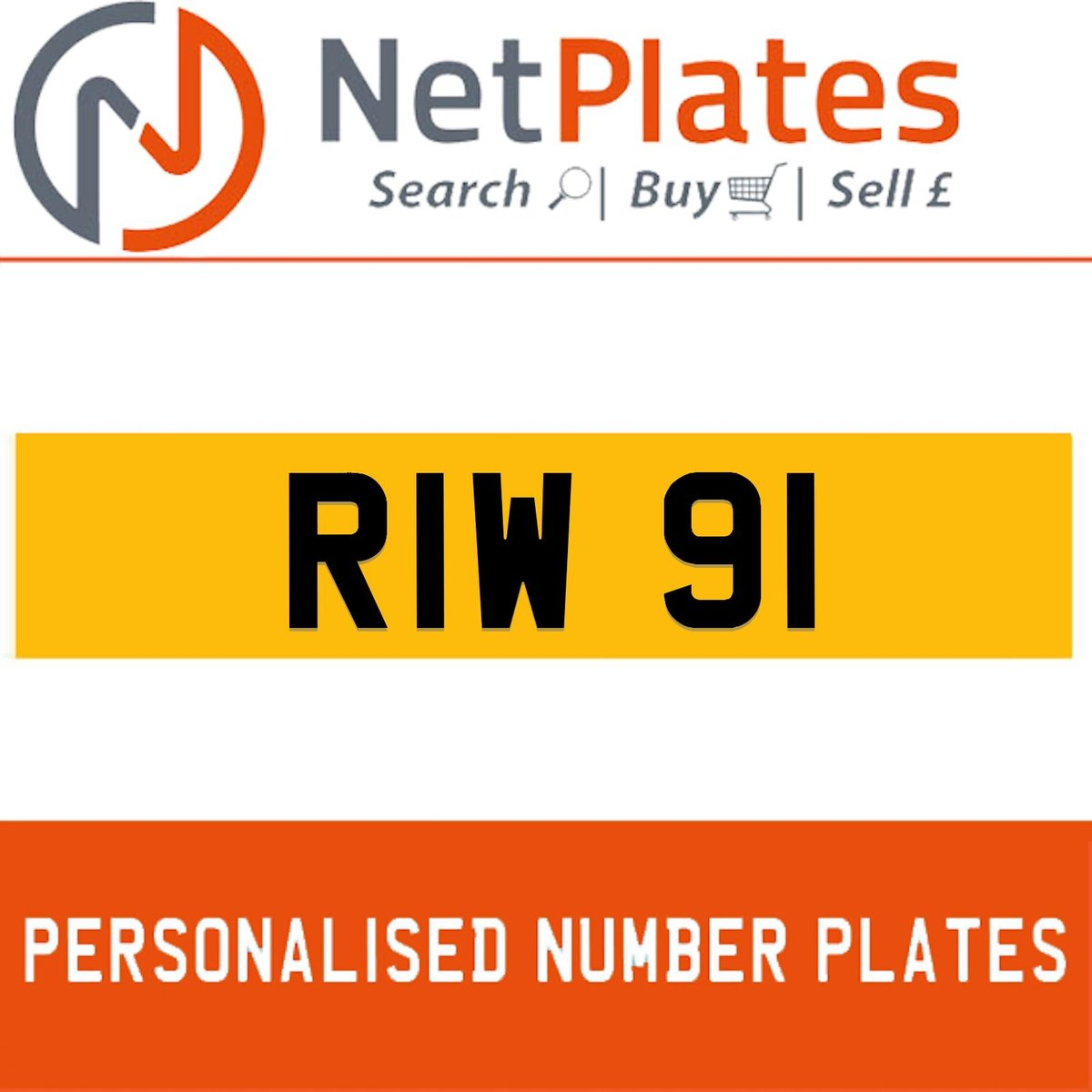 RIW 91  PERSONALISED PRIVATE CHERISHED DVLA NUMBER PLATE For Sale (picture 1 of 5)