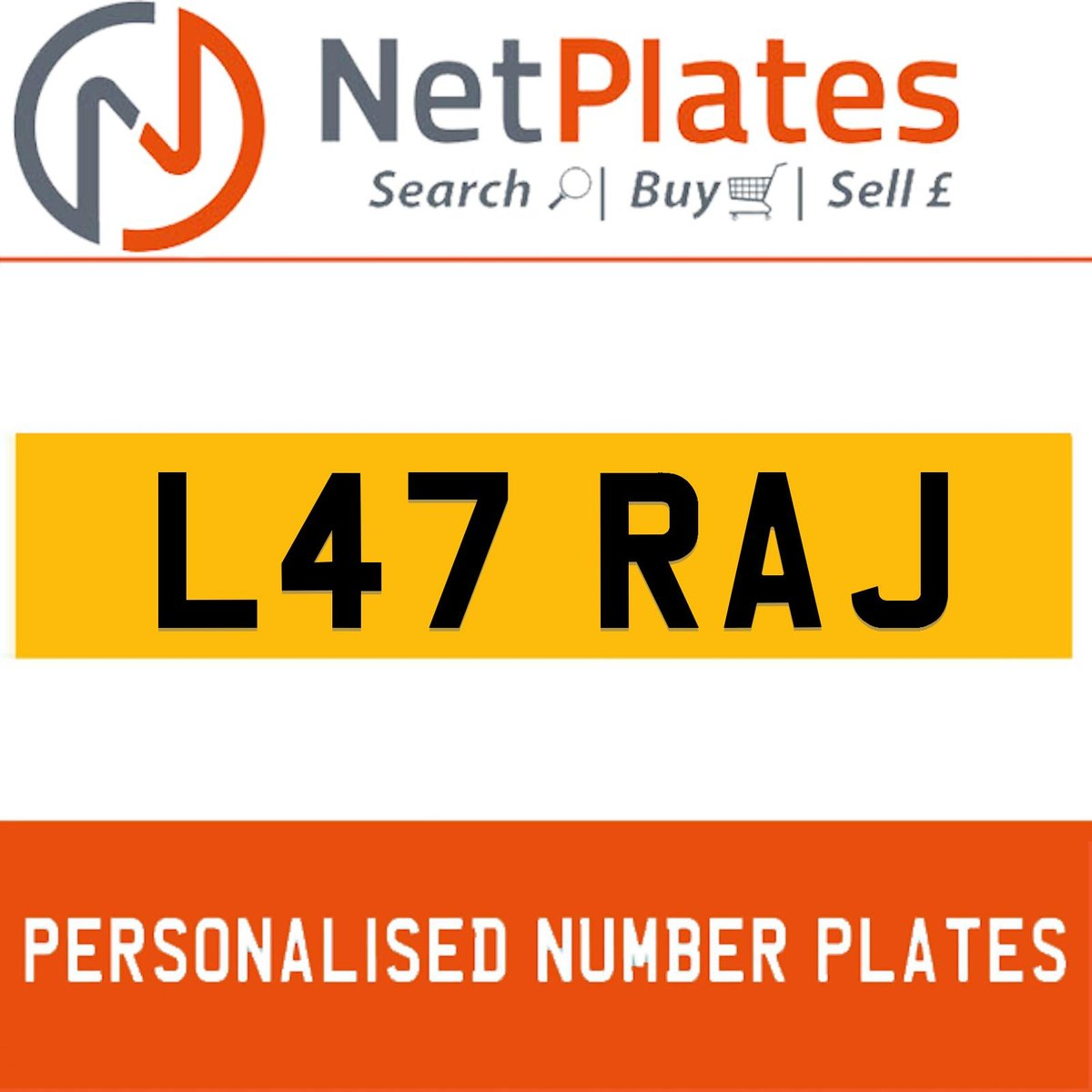 L47 RAJ PERSONALISED PRIVATE CHERISHED DVLA NUMBER PLATE For Sale (picture 1 of 5)