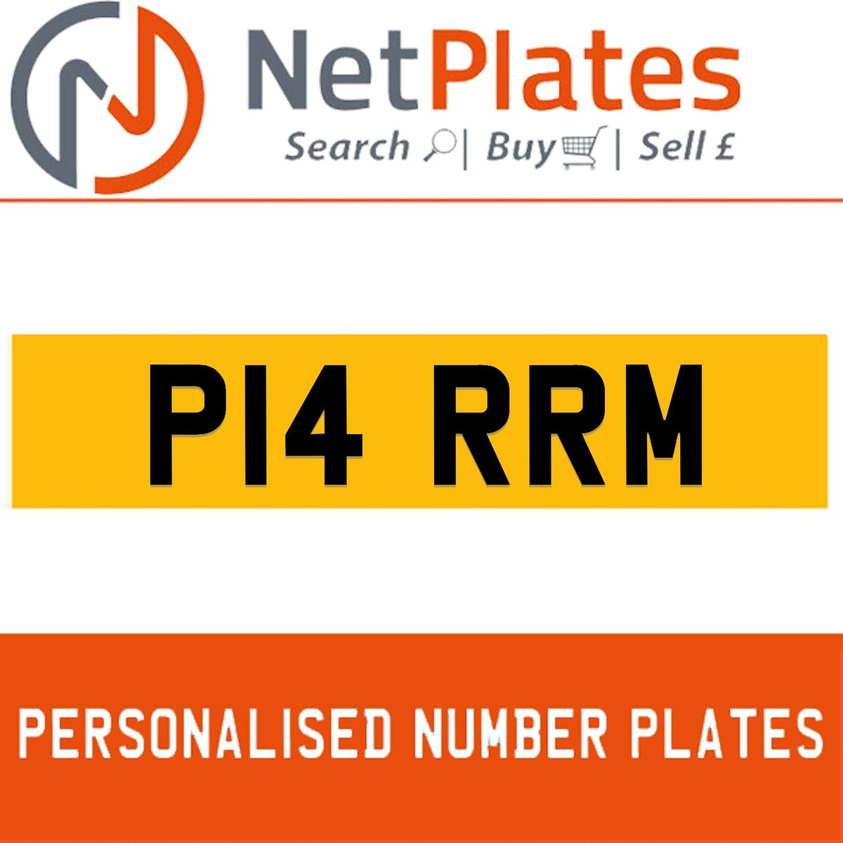 P14 RRM PERSONALISED PRIVATE CHERISHED DVLA NUMBER PLATE For Sale (picture 1 of 5)