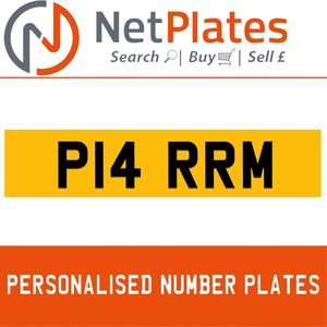 P14 RRM PERSONALISED PRIVATE CHERISHED DVLA NUMBER PLATE For Sale
