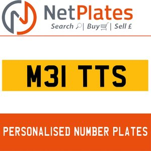 M31 TTS PERSONALISED PRIVATE CHERISHED DVLA NUMBER PLATE For Sale