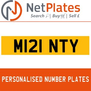 M121 NTY PERSONALISED PRIVATE CHERISHED DVLA NUMBER PLATE For Sale
