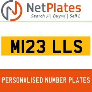 M123 LLS PERSONALISED PRIVATE CHERISHED DVLA NUMBER PLATE