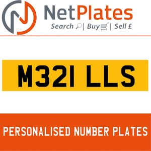 M321 LLS PERSONALISED PRIVATE CHERISHED DVLA NUMBER PLATE