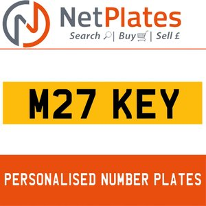 M27 KEY PERSONALISED PRIVATE CHERISHED DVLA NUMBER PLATE For Sale