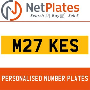 M27 KES PERSONALISED PRIVATE CHERISHED DVLA NUMBER PLATE For Sale