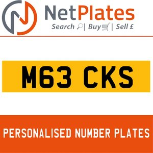 M63 CKS PERSONALISED PRIVATE CHERISHED DVLA NUMBER PLATE For Sale