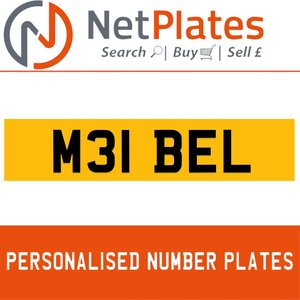M31 BEL PERSONALISED PRIVATE CHERISHED DVLA NUMBER PLATE