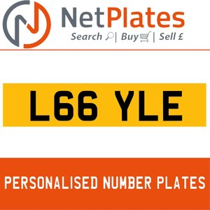 L66 YLE PERSONALISED PRIVATE CHERISHED DVLA NUMBER PLATE