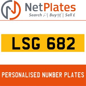 LSG 682 PERSONALISED PRIVATE CHERISHED DVLA NUMBER PLATE