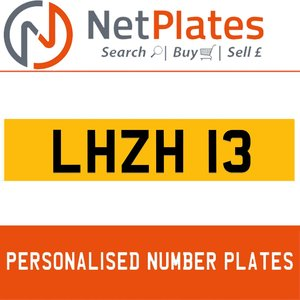 LHZ 13 PERSONALISED PRIVATE CHERISHED DVLA NUMBER PLATE For Sale