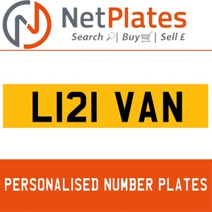 L121 VAN PERSONALISED PRIVATE CHERISHED DVLA NUMBER PLATE For Sale