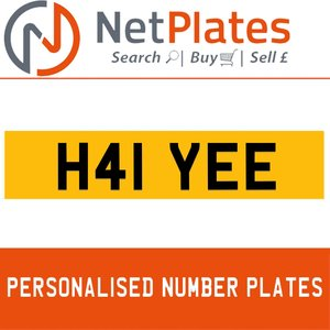 H41 YEE PERSONALISED PRIVATE CHERISHED DVLA NUMBER PLATE