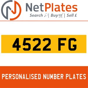 4522 FG PERSONALISED PRIVATE CHERISHED DVLA NUMBER PLATE