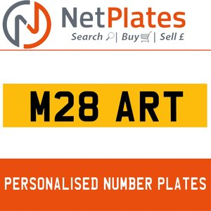 M28 ART PERSONALISED PRIVATE CHERISHED DVLA NUMBER PLATE For Sale