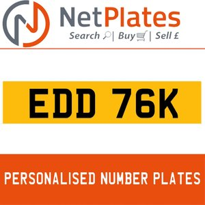 EDD 76K PERSONALISED PRIVATE CHERISHED DVLA NUMBER PLATE For Sale
