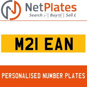 M21 EAN PERSONALISED PRIVATE CHERISHED DVLA NUMBER PLATE
