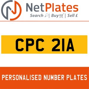 CPC 21A PERSONALISED PRIVATE CHERISHED DVLA NUMBER PLATE For Sale