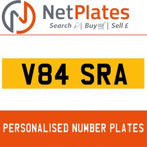V84 SRA PERSONALISED PRIVATE CHERISHED DVLA NUMBER PLATE For Sale