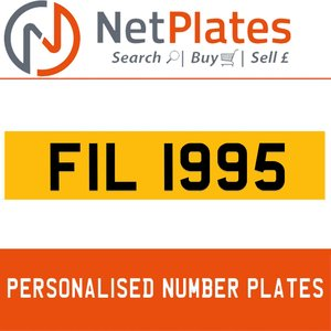 FIL 1995 PERSONALISED PRIVATE CHERISHED DVLA NUMBER PLATE For Sale