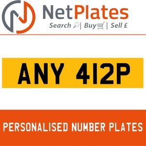 ANY 412P PERSONALISED PRIVATE CHERISHED DVLA NUMBER PLATE For Sale