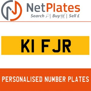 K1 FJR PERSONALISED PRIVATE CHERISHED DVLA NUMBER PLATE For Sale