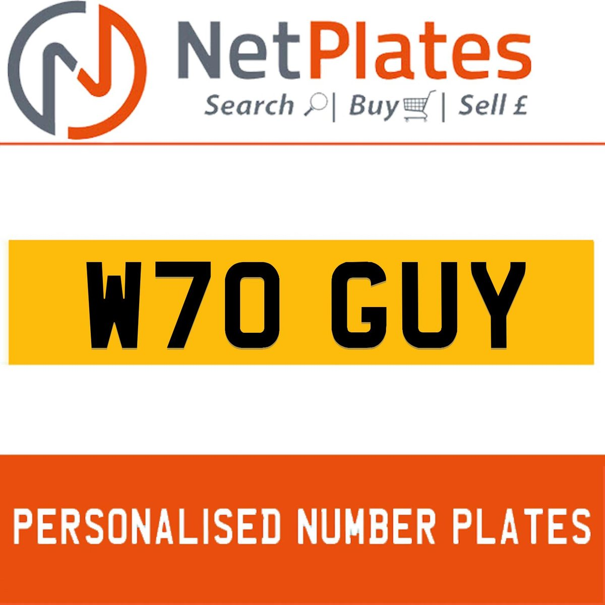 W70 GUY PERSONALISED PRIVATE CHERISHED DVLA NUMBER PLATE For Sale (picture 1 of 5)
