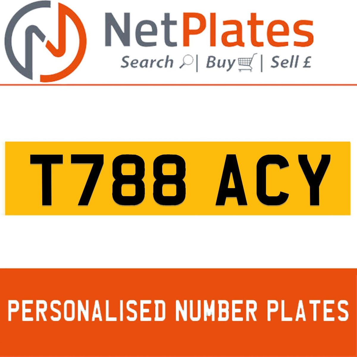 T788 ACY PERSONALISED PRIVATE CHERISHED DVLA NUMBER PLATE For Sale (picture 1 of 5)