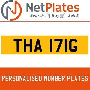 THA 171G PERSONALISED PRIVATE CHERISHED DVLA NUMBER PLATE For Sale