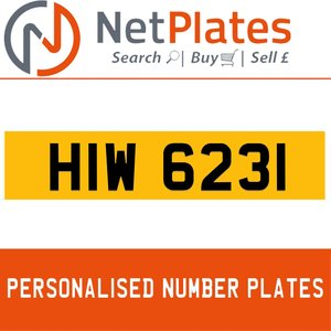 HIW 6231 PERSONALISED PRIVATE CHERISHED DVLA NUMBER PLATE For Sale