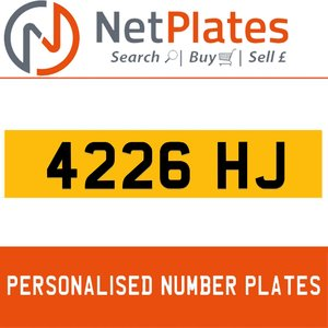 4226 HJ PERSONALISED PRIVATE CHERISHED DVLA NUMBER PLATE For Sale