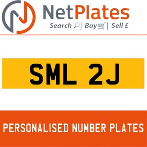 SML 2J PERSONALISED PRIVATE CHERISHED DVLA NUMBER PLATE