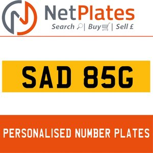 SAD 85G PERSONALISED PRIVATE CHERISHED DVLA NUMBER PLATE For Sale