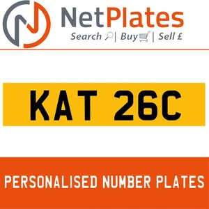 KAT 26C PERSONALISED PRIVATE CHERISHED DVLA NUMBER PLATE For Sale