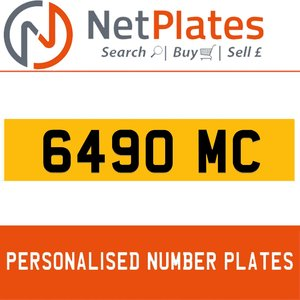 6490 MC PERSONALISED PRIVATE CHERISHED DVLA NUMBER PLATE For Sale