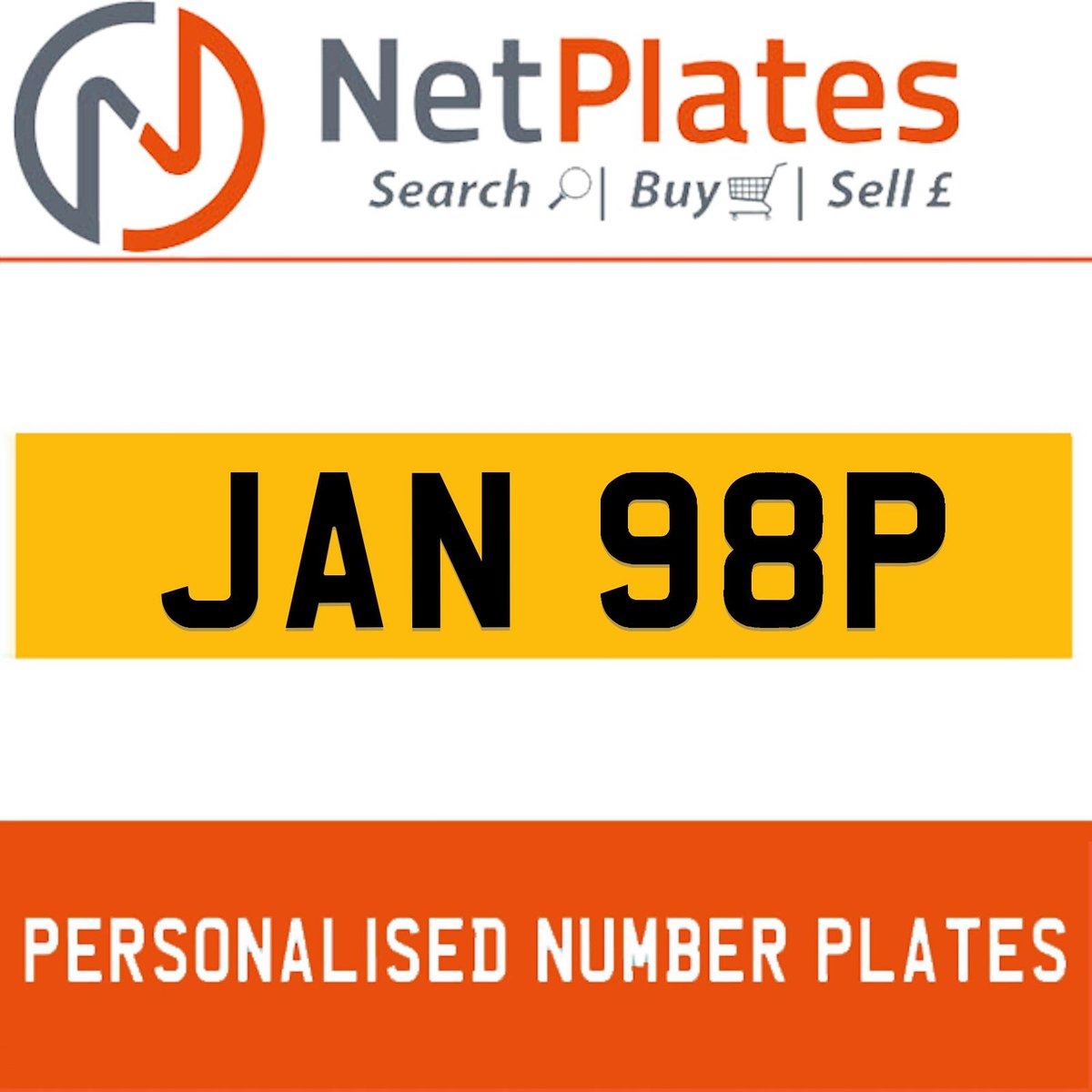 JAN 98P PERSONALISED PRIVATE CHERISHED DVLA NUMBER PLATE For Sale (picture 1 of 5)