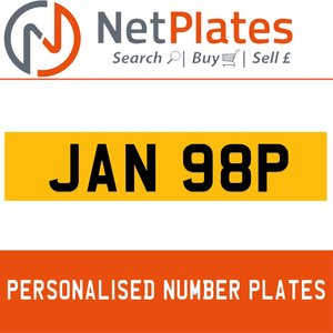 JAN 98P PERSONALISED PRIVATE CHERISHED DVLA NUMBER PLATE For Sale